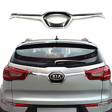 Chrome Rear/Trunk/Tail Gate Garnish Molding Trim Cover for 11+ Sportage