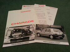 Avril 1989 daihatsu charade 1.3 16 valve-uk communiqué de presse + photos-brochure