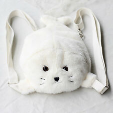 Amo Amuse Seal Sea Dog Backpack Handbag Lolita Cute Plush Toy Girl White Student