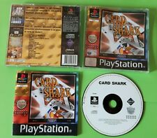 CARD SHARK- Sony PlayStation 1 PS1 Play Station Game Gioco