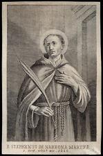 santino incisione 1800 B.STEFANO DA NARBONA M. AD AVIGNONET