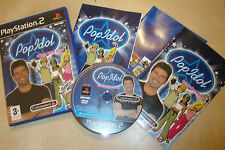 SONY PLAYSTATION 2 PS2 GAME POP IDOL +BOX INSTRUCTIONS COMPLETE PAL
