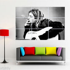 Kurt Cobain Play Guitar Poster Giant Wall Decal Art A