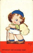 i'm hiking - not in every joint  ! vivian mansell card  .artist signed bimbi