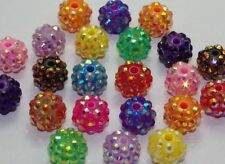 25x Mixed color Acrylic Bead Disco ball Shamballa Drill Ball DIY Bracelet DF794