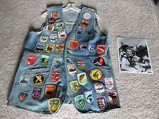 Actress Edna Skinner Personal Denim Vest w Patches TV Star of 1960's Show Mr. Ed