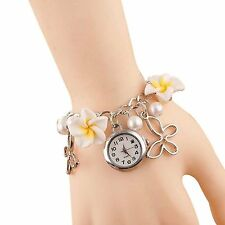 GirlZ!Classic yellow flower bracelet with watch