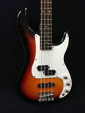 Caraya Electric Precision Bass Guitar Sunburst 4-string w/Free gig bag, Strap