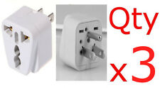 3PK European EU To US American Adapter Plug Converter Euro Asia to USA