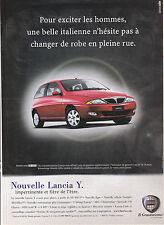 ANNONCE PUBLICITAIRE COUPURE ADVERT - LANCIA Y - ANNEE 2001 - AUTOMOBILE CAR