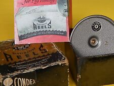 """Collectible vintage J.W.Young&Sons The Condex  3 1/2"""" Fly Reel-Excellent in box"""