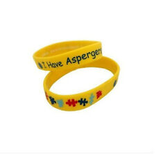 ASPERGERS Wristbands Alert Medical ID Silicone Bracelet Emergency Jewel Puzzle