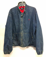 incredible POLO RALPH LAUREN vintage USA front zip red flannel bomber jacket L
