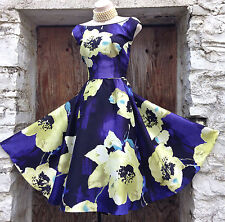 *RARE* Exquisite MONSOON *Carnaby* 50s/Rockabilly floral full skirt dress sz 18
