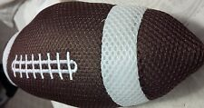 6 INCH PLUSH FOOTBALL BROWN AND WHITE