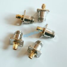 Adapter N female jack to SMA male plug flange mount RF connector Converter