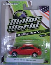 GREENLIGHT COLLECTIBLES 1:64 SCALE DIECAST METAL RED 2013 DODGE DART GT