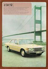 Mercedes Benz 450 SE Saloon W116 1977-78 UK Market Specification Brochure