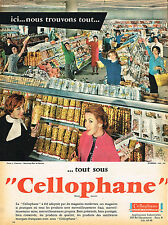 PUBLICITE ADVERTISING 015  1960  CELLOPHANE  emballage supermag RUE DE RENNES