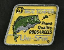 TRUE TEMPER UNI-SPIN Finest Quality RODS & REELS Fishing Collectors Patch