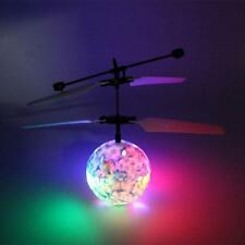 New Blue&White Porcelain Flying RC Ball Led Flashing Light Aircraft Infrared Toy