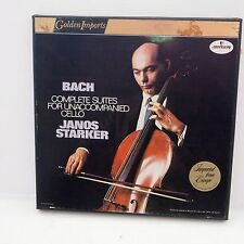 AUDIOPHILE STARKER BACH UNACCOMPANIED CELLO GOLDEN MERCURY 3 LP BOX NM TAS