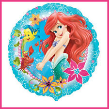 "Ariel The Little Mermaid 17"" Foil Balloon Disney Birthday Party Supplies +Ribbon"