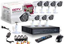 KIT DVR REGISTRATORE H264 LAN VIDEOSORVEGLIANZA HD 8 TELECAMERA CCD 3G