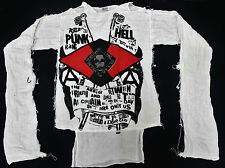 VINTAGE EARLY 80s BOY LONDON SEDITIONARIES ANARCHIST PUNK GANG MUSLIN PUNK SHIRT