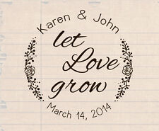 custom logo self inking save the date wedding return address rubber stamp 1.5""