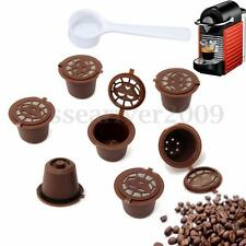 7x Refillable Reusable Coffee Capsules + 1 Spoon Bundle For Nespresso Filters