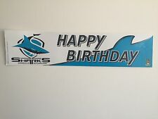 Official NRL Cronulla Sharks Happy Birthday Banner Poster