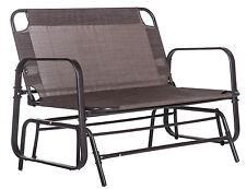 SALE Merax Patio Loveseat Glider Rocking Chair Garden Outdoor Bench Bronze
