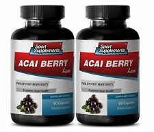 Fat Burner Supplement - Acai Berry Lean 550mg - Acai Berry Detox 2B