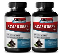 Fat Burner For Men Capsules - Acai Berry Lean 550mg - Acai Fruit Powder 2B