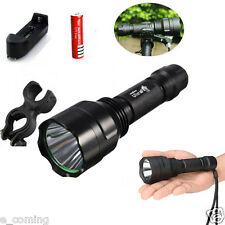 Ultrafire 2600LM Tattico C8 CREE XM-L XML T6 torcia luce flash LED + Supporto