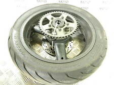 Suzuki GSX 750 F 01 rear wheel rim with 45% tyre sprocket spacers and disk rotor