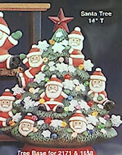 Ceramic Bisque Ready to Paint Santa Tree with electric kit,  lights and star