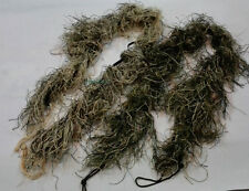 2PCS  Jungle+Desert Camo 3DRifle Cover Ghillie Wrap Sniper Hunting Paintball