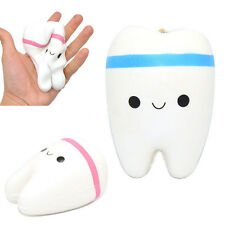 1PCS 11cm Kawaii Tooth Jumbo Squishy Slow Rising Phone Straps for Phone/Mp3/Bag
