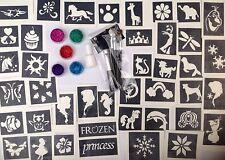 Brillo Tattoo Kit Para Niñas De 40 Plantillas Plus congelados 12 Libre 5 Brilla Reino Unido realizó