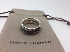 David Yurman Sterling Silver Mens Wave Ring Size 9.5