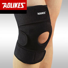 Black Adjustable Knee Patella Support Brace Wrap Cap Stabilizer Sports Protector