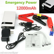 Portable Car Jump Starters Power Bank Backup Battery Charger Emergency 12000mAh