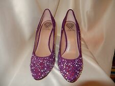 Vince Camuto AB crystal Purple Suede Pumps!-size 10 Never worn!, bridal, formal