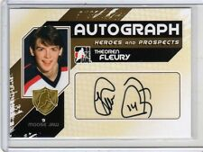THEO THEOREN FLEURY 10/11 ITG H&P Auto Autograph #A-TF SP SHORT-PRINT Signed