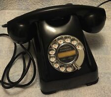 L@@K - RARE - Kellogg D1000HC1 Red Bar black Bakelite Rotary Dial Desk Telephone