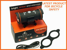 Brightside Bicycle Cycling LED Safety Side Light Provides Extra Visibilty
