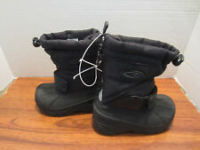 Toddler Little Boys Black With Back Zipper Winter Snow Boots Size 6,NICE!