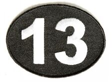 "(G32) LUCKY 13 - 2.75"" x 2"" iron on patch (3298) Biker Patches"